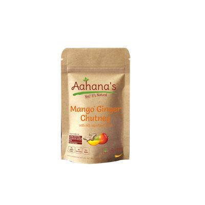 Aahana's Mango Ginger Chutney (with Superfoods Baobab, Moringa, Goji berry, Chia Seeds, Wheat Grass, Holy Basil) (Pack of 6)