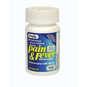 Watson Rugby Labs APAP 325 mg Pain & Fever, 100 Tablets, Watson Rugby