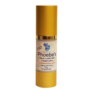 Phoebe's Crepey Skin Facial Lotion, With Alpha Fruit Acids, Lactic Acid, Hyaluronic Acid, Retinol and More By Diva Stuff