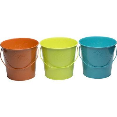 17 Oz. Citronella Wax Candle Metal Bucket 3pc - Multi Color - Tiki, Multi-Colored