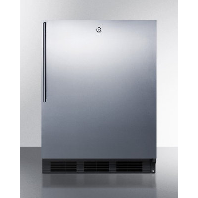 Summit AL752LBLSSHV 5.5 cu. ft. Freestanding All Refrigerator with Automatic Defrost, Front Lock and Thin Handle