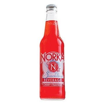 NORKA Premium 12oz Sparkling Beverages, Cherry-Strawberry (Pack of 12) (Cherry-Strawberry)