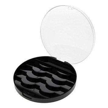 Homyl 4 Pairs False Eyelash Storage Box Makeup Cosmetic Eye Lashes Case Organizer for Travel Black