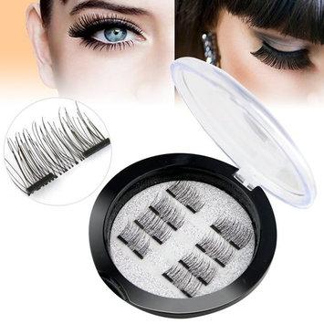 8 PCS Upgraded 3D Magnetic Eyelashes, Fashionable False Magnetic Eyelashes, Reusable and No Glue Needed Ultra Thin Magnetic Eyelashes, Natural Eyelash Look, Best Magnetic Eyelashes for 2018