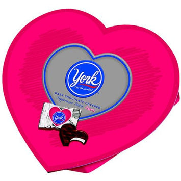 YORK Dark Chocolate Peppermint Patties Valentine's Heart Box, 8 oz