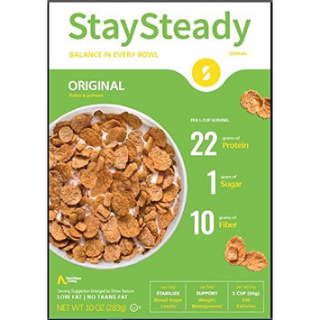 Nutritious Living StaySteady, Original Cereal, 10 Ounce [Original Cereal]