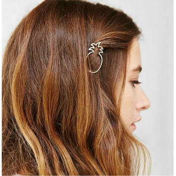 Joyci 1Pcs Dainty Pineapple Geometric Metal Hairpin Women's Side Clip Clamps (G