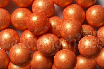 Candymachines Gumballs By The Pound - 1 Pound Bag of Shimmer Pearl Orange