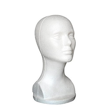 Styrofoam head Fullkang Female Styrofoam Mannequin Wig Head Model Head