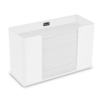 TrippNT 52913 Counter Top White Acrylic Fold/Multifold Paper Towel Dispenser, 11 1/4 x 6 5/8 x 4 5/8 inches WHD