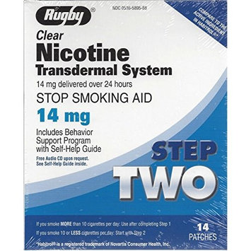 Rugby Clear Nicotine Transdermal System 14mg *Compare to Habitrol* Pack of 3