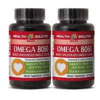 Immune support vital nutrients - OMEGA 8060 (HIGHLY CONCENTRATED FISH OIL) - Omega 3 omega 6 - 2 Bottle 120 Softgels