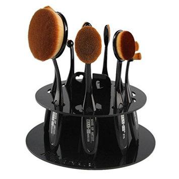 Makeup Brush,Baomabao 10 Hole Oval Makeup Brush Holder Organizer Cosmetic Shelf Tool