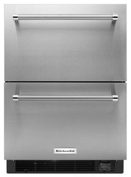 Kitchenaid - 4.7 Cu. Ft. Double-drawer Refrigerator - Stainless Steel