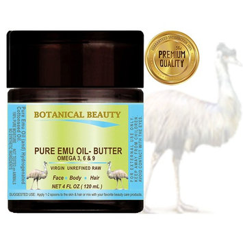 PURE EMU OIL- BUTTER. 100 % Natural - RAW - VIRGIN - UNREFINED.for FACE, BODY, HANDS, FEET, NAILS & HAIR and LIP CARE.