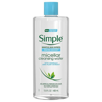 Simple Water Boost Micellar Cleansing Water for Sensitive Skin Twin Pack, 27 ounce [Sensitive Skin]