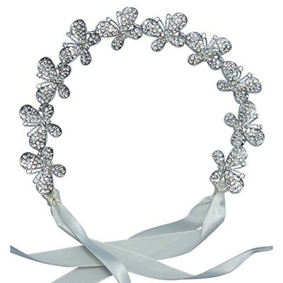 Butterfly Headband: With Sparkly Rhinestone Butterflies