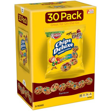 Kellogg Sale Company Keebler Chips Deluxe Rainbow Mini Cookies 30 ct Caddies (Pack Of 4)