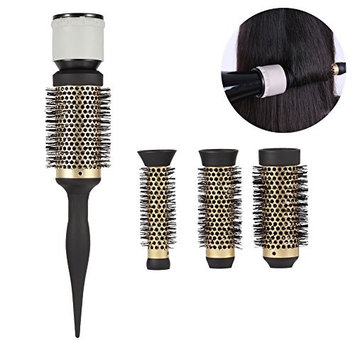 Round Curly Hair Comb Diffuser, Fashion Ceramic Ionic Salon Styling Barrel Blow Dryer Hairdressing Accessory for Shine Smooth Sleek Curling Wave Drying Tools