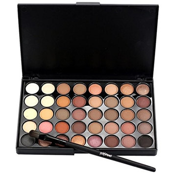 Wotryit Cosmetic Matte Eyeshadow Cream Makeup Palette Shimmer Set 40 Color+ Brush Set
