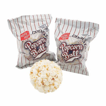 Baseball Popcorn Balls - 24 Pack (Individually Wrapped)