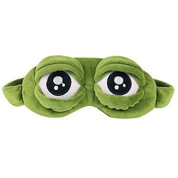 3D Eye Mask Soft Sad Frog Sleep Travel Shade Cover Rest Relax Sleeping Blindf