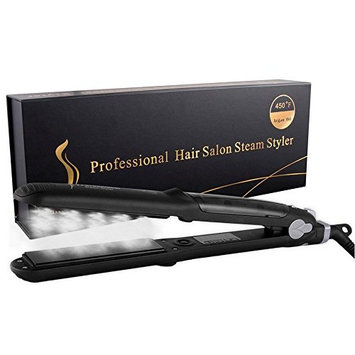 Professional Water/Oil Steam Hair Straightener Flat Iron Injection Painting 450F Straightening Irons Hair Care Styling Tools