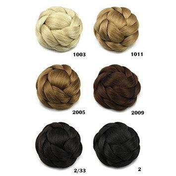 Better-Home Synthetic Hair Bun Extension Braided Chignon Hair Updo