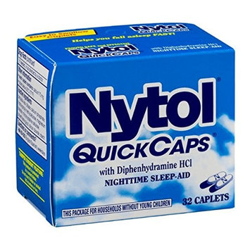 3 Pack - Nytol Nighttime Sleep Aid Quick Capsules 32 Each