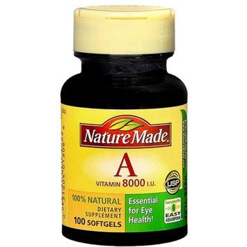 Nature Made Vitamin A 8000 I.U. Softgels 100 Soft Gels