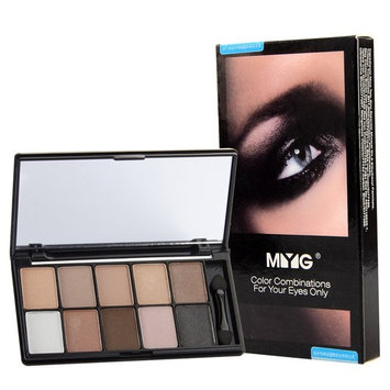 10Color Gorgeous Must Have Eyeshadow Palette Makeup, Highly Pigmented Professional Eyes Makeup, Great Size for Daily Carry On, Super Smooth Brush Inside (Caviar)