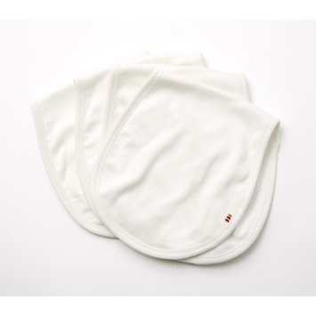 Agabang giggle Organic Cotton Baby Burp Cloth - Solid Ivory 4-Pack