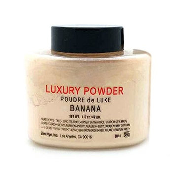 Concealer Makeup Powder-Luxury Powder Banana Face Loose Powder 42g Woman Girl Beauty Makeup for Nutritious, Water Resistant, Brighten, Concealer, Natural