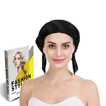 Savena 100% Mulberry Silk Night Sleeping Cap for Long Hair Bonnet Hat Smooth Soft Many Colors, Hair Care Ebook Included