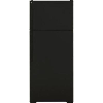 GE 16.6 cu. ft. Top-Freezer Refrigerator - Black
