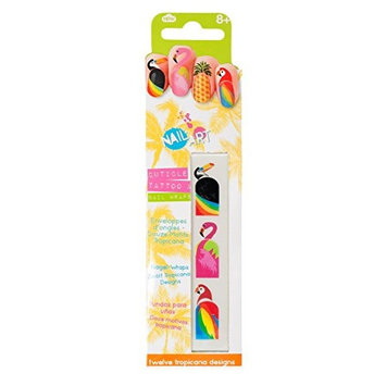NPW-USA 12 Piece Tropical Nail Wraps & Cuticle Tattoos