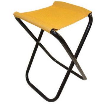ALEKO CS02YL Outdoor Foldable Camping Chair Fishing Stool Portable Hiking Beach Travel Seat, Yellow