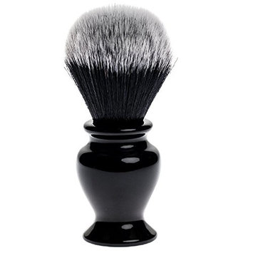 Fendrihan Black and White Synthetic Shaving Brush with Resin Handle for Personal and Professional Shaving (Knot: 24 mm)