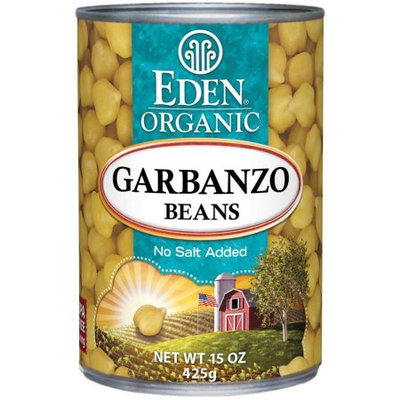 Eden Organic Eden Garbanzo Beans (chick peas), Organic, 15 Ounce (Pack of 6)