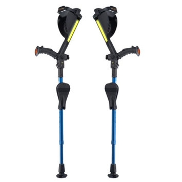 Ergobaum Kids Royal Shock Absorber Forearm Crutches 2 ft to 5 ft Blue