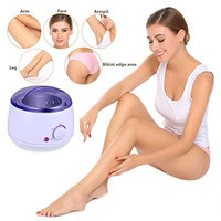Wax Warmer, Meflying Portable Mini Electric Wax Warmer Salon Spa Hair Removal Waxing Kit 10 Wax Applicator Sticks and 10 wax Strips Perfect for Home Waxing Spa