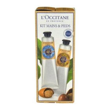 L'occitane Hand Foot Kit Dry Skin For Unisex 2 Pc Gift Set 2.6oz Hand Cream 2.6oz Foot Cream