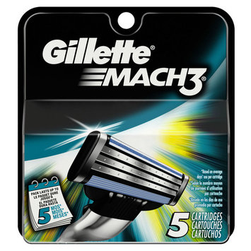 Gillette Mach 3 Razor Cartridges - Box of 5 + FREE SHIPPING!