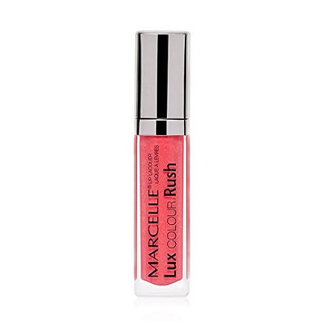 Marcelle Lux Colour Rush Lip Lacquer, Summer Flame, Hypoallergenic and Fragrance-Free, 0.19 fl oz