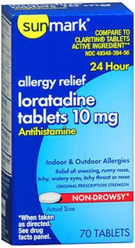 Sunmark Loratidine 10 mg 24 Hour Tablets - 70 ct