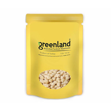 Greenland High Premium UnSalted Roasted Blanched Turkish Hazelnuts - (1 LB) Always Fresh