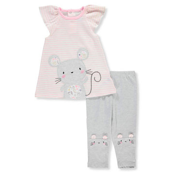 Bon Bebe Baby Girls' 2-Piece Outfit