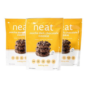 neat - Vegan - Mocha Dark Chocolate Cookie Mix (9.5 oz.) (Pack of 3) - Non-GMO, Gluten-Free, Soy Free, Baking Mix