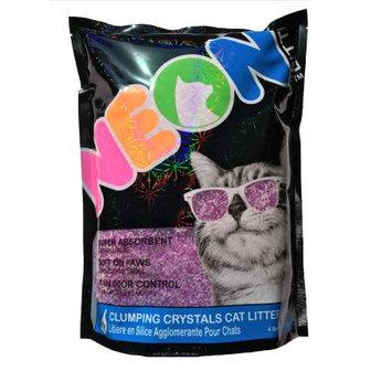 Ultra Pet Company NEON LITTER - PURPLE Clumping Cat Litter Crystals - 4lb