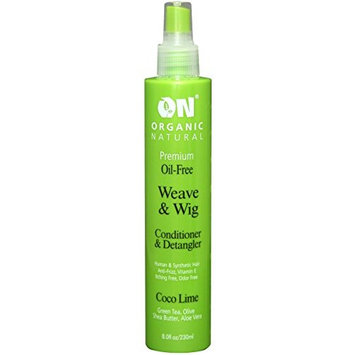 (PACK OF 2) ON Weave & Wig Coco Lime Conditioner & Detangler, 8OZ : Beauty